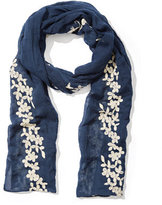 New York & Co. Floral-Embroidered Scarf