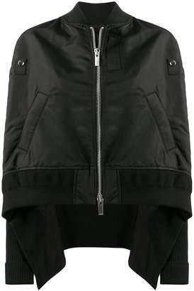 Sacai oversized boxy bomber jacket