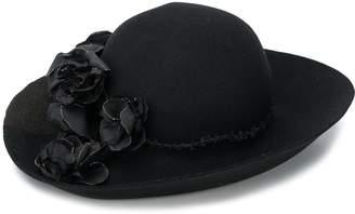 Horisaki Design & Handel flower appliqué hat