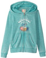 Roxy Girls' Be The Overflow Coconut Party Zipped Hoodie (Big Kid) 8167484