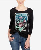 Lucky Brand Three-Quarter-Sleeve Graphic T-Shirt