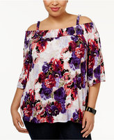 INC International Concepts Plus Size Off-The-Shoulder Peasant Top, Only at Macy's