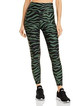 Aqua Athletic Zebra Print Knit Leggings - 100% Exclusive
