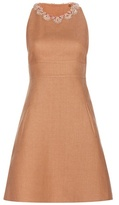 Valentino Embellished Linen Dress