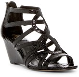 Isola Flora Snake Embossed Wedge Sandal