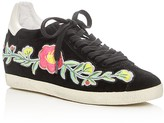 Ash Gull Embroidered Hidden Wedge Lace Up Sneakers