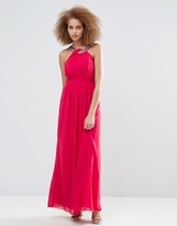 Little Mistress Embellished Chiffon Maxi Dress