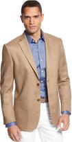 Tasso Elba Island Solid Linen 2-Button Blazer, Only at Macy's