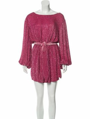 retrofete Bateau Neckline Mini Dress Pink
