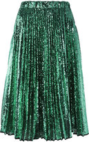 No.21 sequined pleated skirt - women - Silk/Polyester - 38