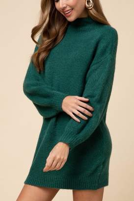 Entro Green Sweater Dress