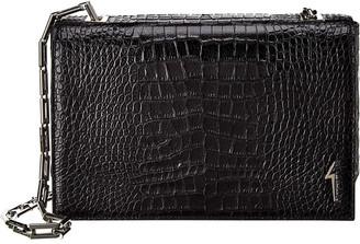 Giuseppe Zanotti Croc-Embossed Leather Shoulder Bag