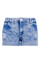Select Fashion Fashion Womens Blue Sherry Acid Ripped Short - size 6