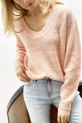 B.young Martine V Neck Pullover Coral - XS
