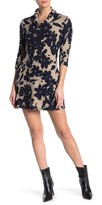 Papillon Cowl Neck Floral Printed Dress
