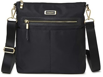 Baggallini City Lights Stephanie Large Crossbody (Black) Handbags