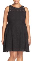 BB Dakota Plus Size Women's 'Renley' Lace Fit & Flare Dress