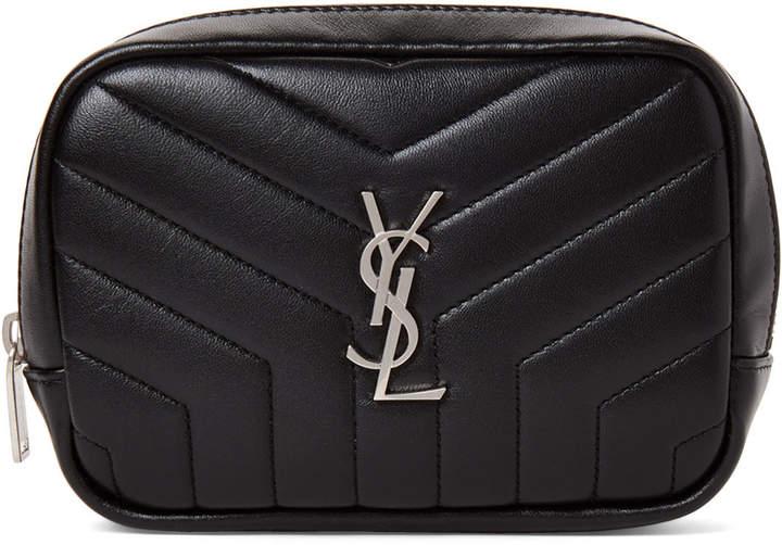 Saint Laurent Black Quilted Leather Pouch