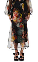Dries Van Noten Women's Schiller Floral Silk Midi-Skirt-Black