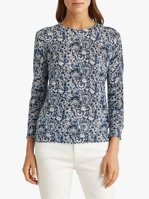 Ralph Lauren Ralph Meggie Floral Print Sweater, Blue/Multi