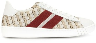 Bally All Over Logo Print Sneakers