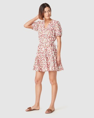 French Connection Garden Floral Linen Dress