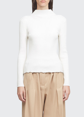 3.1 Phillip Lim Long-Sleeve Wool Ribbed Sweater