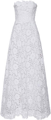 Carolina Herrera Bridal Gertrude Lace Strapless Gown