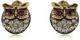 Alcozer & J Glenda & Gilda Owl Stud Earrings