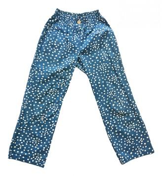 Bernhard Willhelm Blue Cotton Trousers for Women