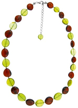 Nature d'Ambre 3170647 Women's Necklace Silver 925/1000 and Amber 16 g 50 cm