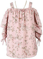 Speechless Off Shoulder 3/4 Sleeve Floral Blouse - Girls' 7-16