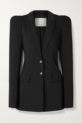 Tibi Tropical Woven Blazer - Black