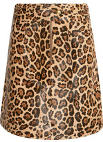 J.Crew Leopard-Print Calf Hair Mini Skirt