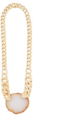 Zimmermann Long Agate & Gold-plated Chain Necklace - Womens - Gold