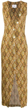 Nanushka deep V-neck paisley print dress