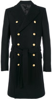 Balmain button-embellished coat - men - Cotton/Cupro/Viscose/Wool - 50