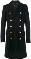 Balmain button-embellished coat - men - Cotton/Cupro/Viscose/Wool - 50