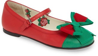 Gucci Web Bow Mary Jane Flat