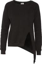 OAK Asymmetric French cotton-terry sweatshirt