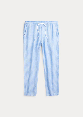 Ralph Lauren Relaxed Fit Striped Linen Pant