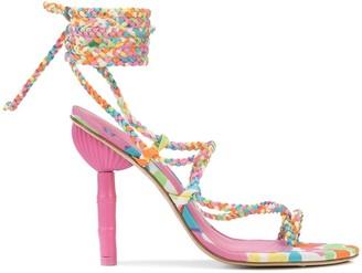 Cult Gaia Adina woven strap sandals