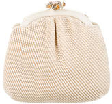 Judith Leiber Pleat-Accented Woven Clutch