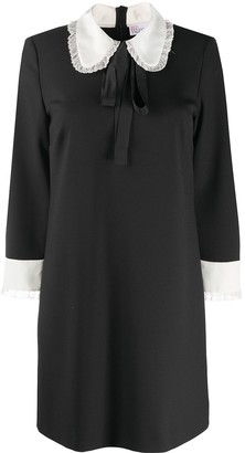 RED Valentino Bow Collar Shift Dress