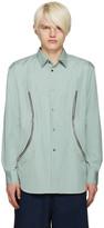 Comme des Garcons Green Zipper Shirt
