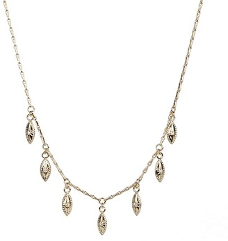 Rebecca Minkoff Stone Drop Collar Necklace (Gold) Necklace
