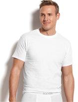 Hanes Platinum Men's Underwear, Crew Neck T-Shirt 5 Pack