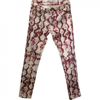 American Retro Pink Cotton Trousers for Women
