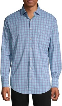 Peter Millar Plaid Button-Front Shirt