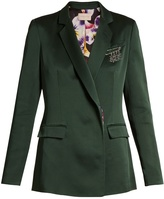 Christopher Kane Safety pin-embellished cady blazer